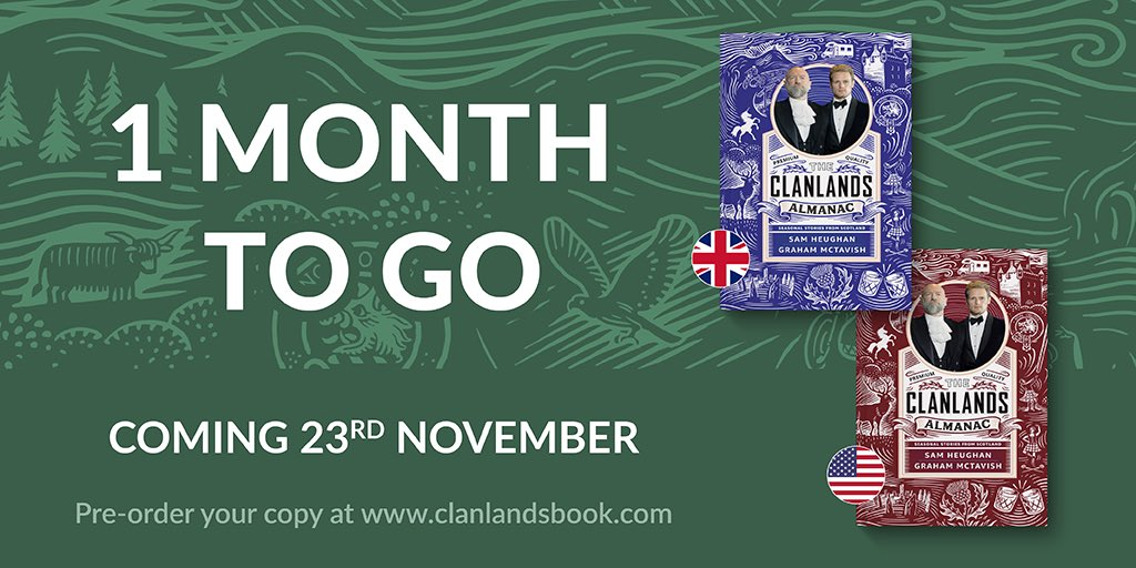 Our wee book of Scotland arrives next month! Full of insightful political commentary, in-depth analysis of sociological and economic disparity… Who am I kidding!? It's a romp through the Scottish year, fuelled by whisky, banter and my friend McT!🥃🏴 Clanlandsbook.com