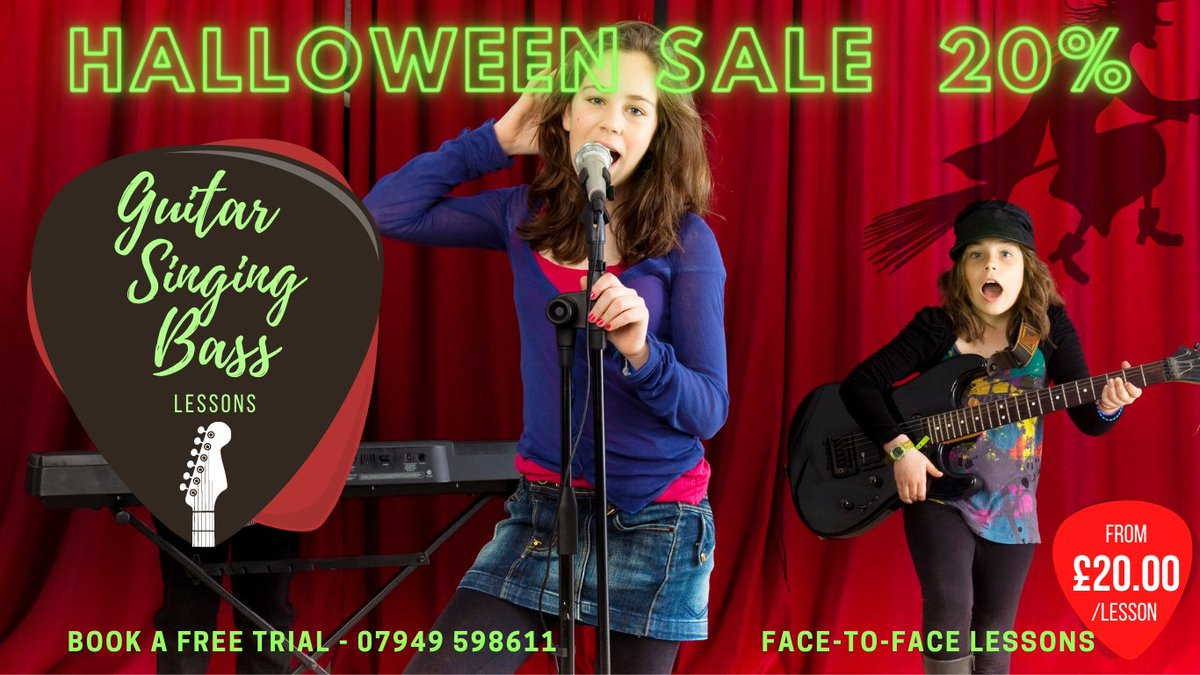 test Twitter Media - Book a Spook-tacular Halloween Lesson. Is your music talent lurking in the shadows? Dust off your Axe, unleash new Ghoulish Grooves, horrifying Licks & spine-chilling Screams! 25 years experience & Monster Skills 😈 #guitar #bass #singing #lessons  https://t.co/xUXMbDopnD https://t.co/noMPhCfrJs