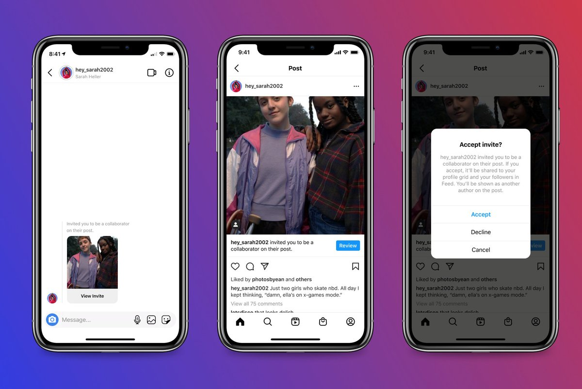 Instagram will let users co-author posts and share likes