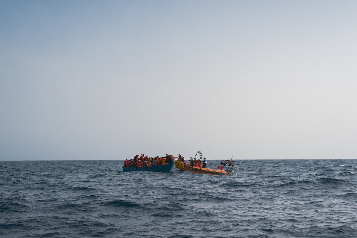 All the 100 persons who were on board, many of them with no life vest on, have been rescued and brought on the #GeoBarents.  ©Filippo Taddei/MSF