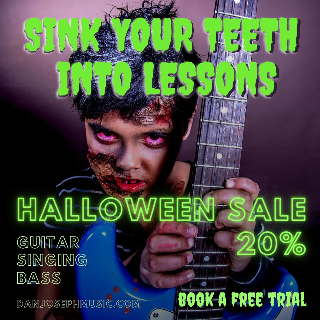 test Twitter Media - Book a Spook-tacular Halloween Trial Lesson with Dan. Is your music talent lurking in the shadows? Dust off your Axe, unleash new Ghoulish Grooves, horrifying Licks & spine-chilling Screams!  #guitar #bass #singing #lessons #online #Face2Face https://t.co/Ip1kwIxavL https://t.co/YFvxzPK97Y