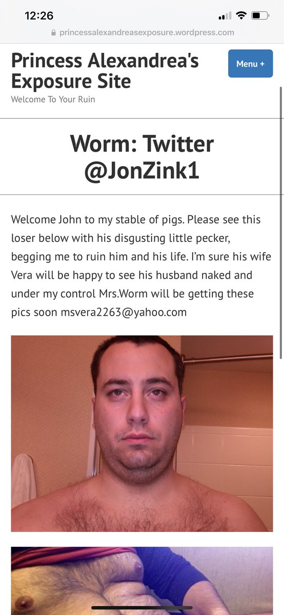 Another exposed slave for viewing 🌎. @JonZink1 the worm is excited and ready to be exposed and laughed at