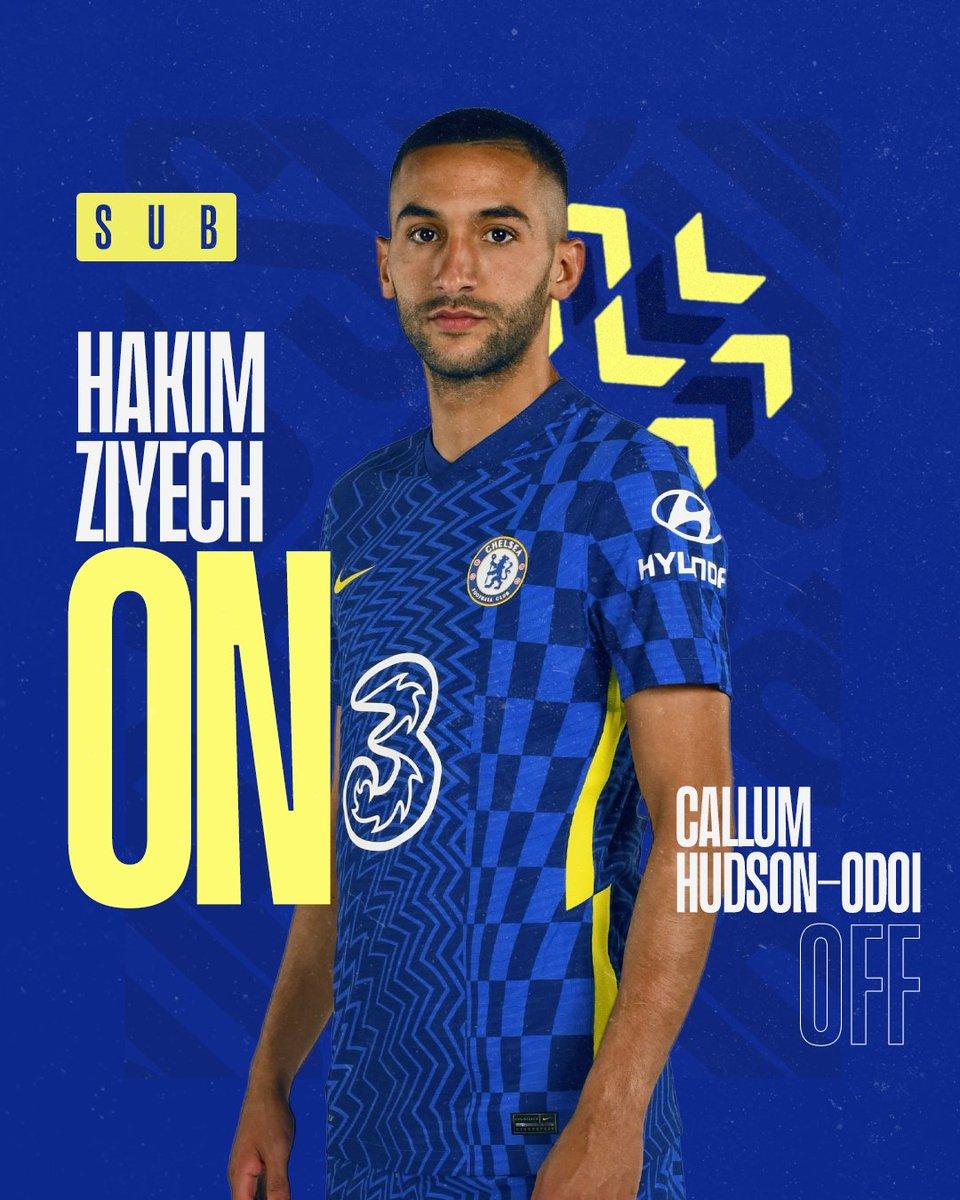 Un double changement pour Chels qui commence avec Hakim qui fait son entrée !  5-0 [70] #CheNor