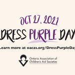 Image for the Tweet beginning: For #DressPurpleDay2021, we're asking our