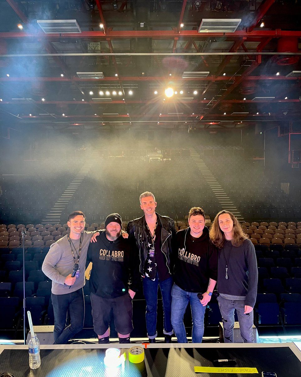 Hello @SandsCentre 👋 We're here and ready for tonight's show with our production manager @jonnydickie. We have the best crew with us on tour 🙌 🎟 book tickets now via gigsandtours.com/tour/collabro