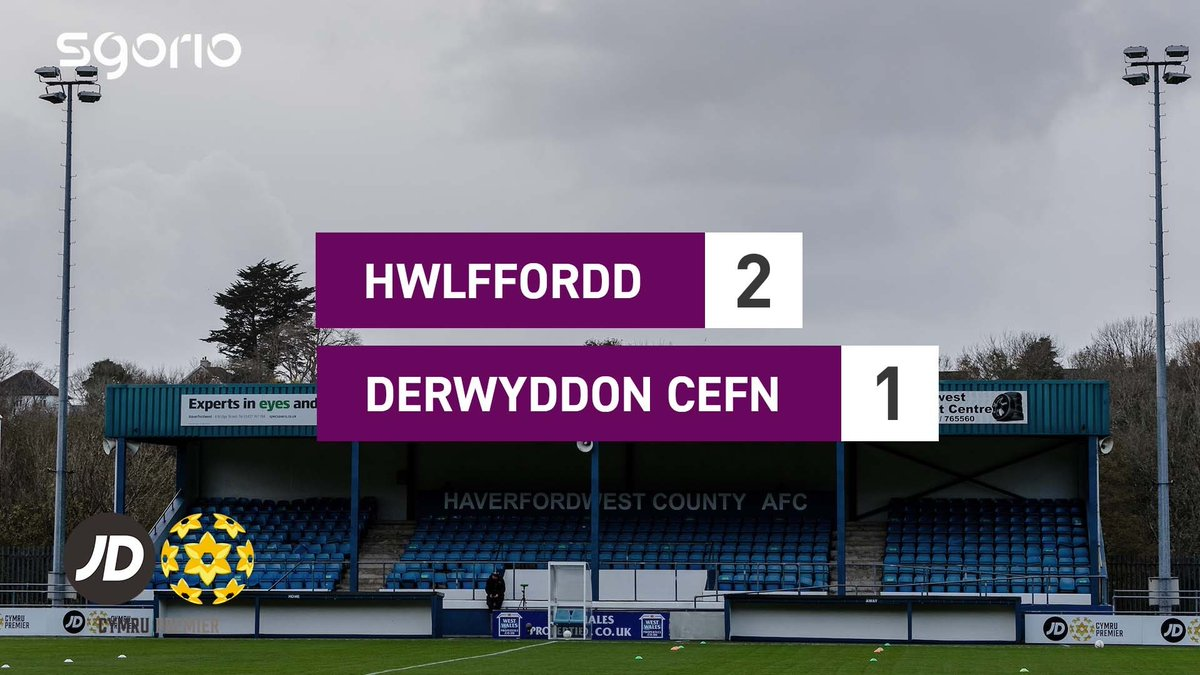Image for the Tweet beginning: Uchafbwyntiau | Highlights: @HaverfordwestFC 2-1