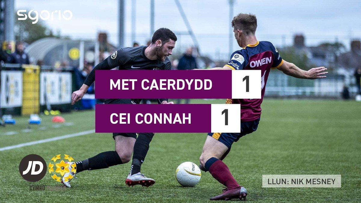 Image for the Tweet beginning: Uchafbwyntiau | Highlights: @CardiffMetFC 1-1