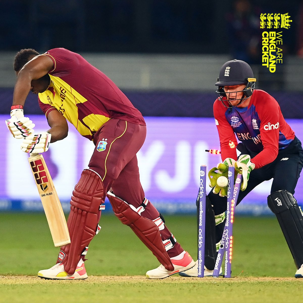 So clinical 👏  West Indies 5⃣5⃣ all out  Scorecard: https://t.co/QRRsvqQINR  #T20WorldCup   #EnglandCricket https://t.co/MHcF43jj4o