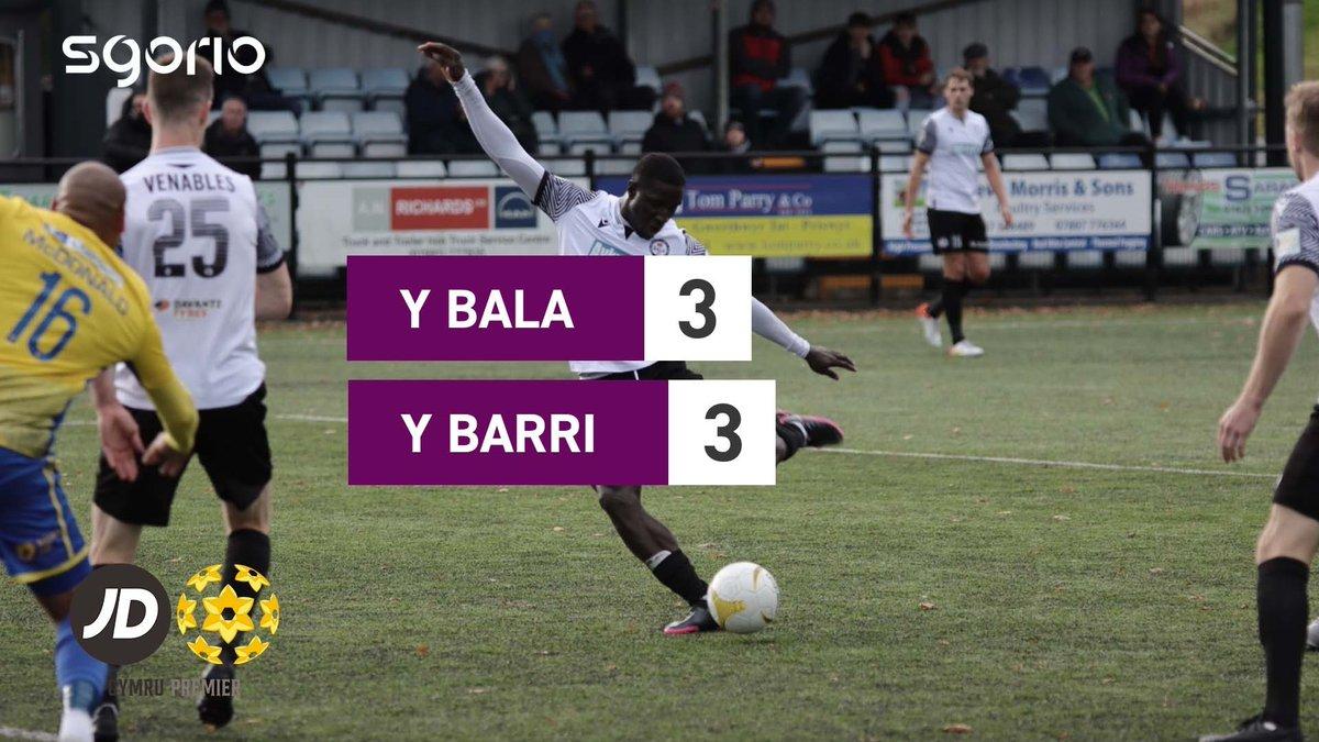 Image for the Tweet beginning: Uchafbwyntiau | Highlights: @BalaTownFC 3-3
