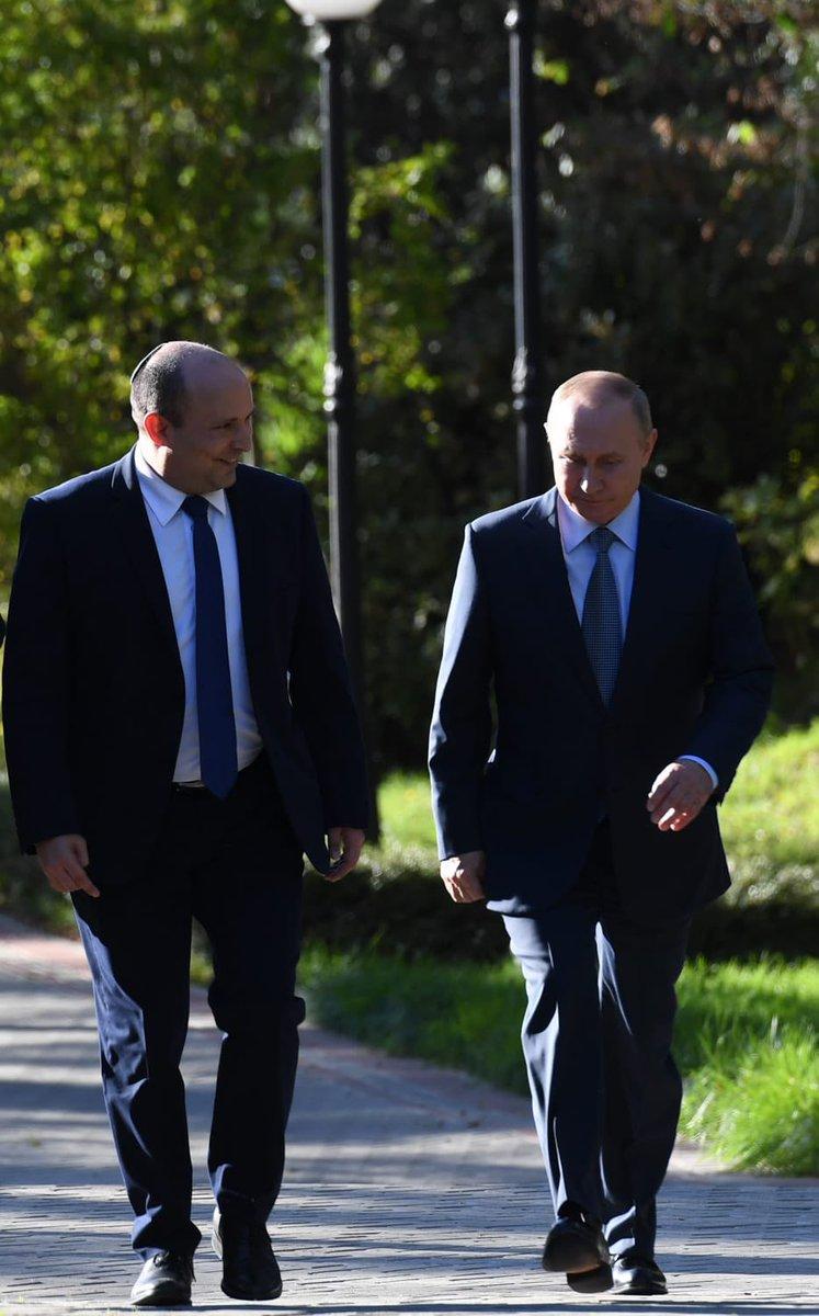 شكر رئيس الوزراء بينيت الرئيس بوتين على حفاوة الاستقبال وعلى اللقاء المثمر
