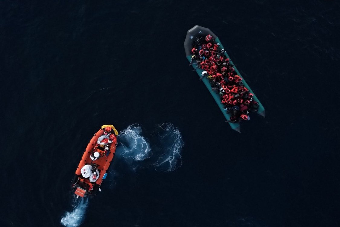 #GeoBarents rescued 95 people who were about to be intercepted by the Libyan Coast Guard. We intervened before these people were forced to return to violence, abuse and exploitation in Libya. ©Filippo Taddei/MSF