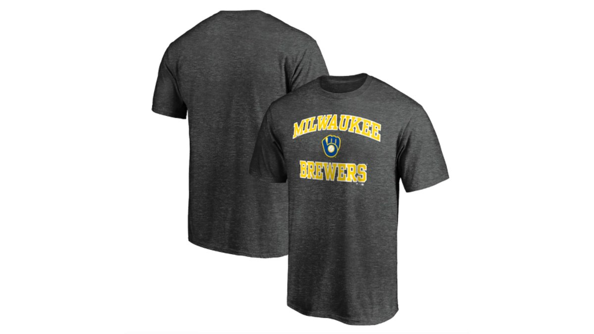 Milwaukee Brewers Fanatics T-Shirt Charcoal    #sponsored #milwaukeebrewers #mlb #baseball #brewers #milwaukee #thisismycrew #milwaukeebrewersnation #christianyelich #brewcrew #gobrewersgo #brewersbaseball #mke #thisisourcrew #wisconsin #milwaukeebucks