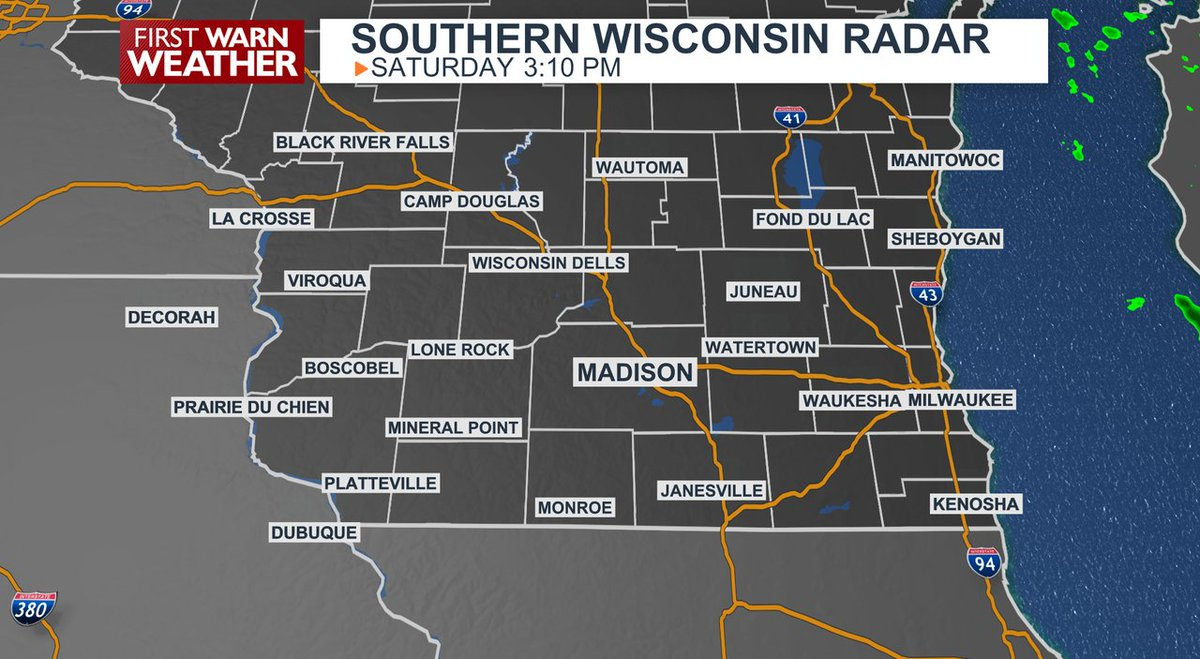 Making afternoon plans? Here's a look at the current radar for southern #Wisconsin. #wiwx @WISCTV_News3 Find out more weather info here: