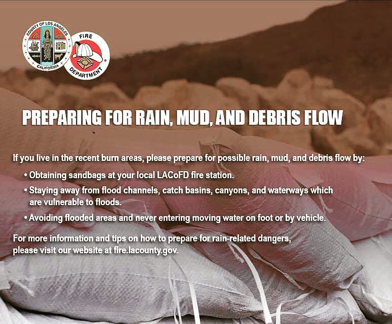 With #LArain in the forecast, make sure your family and home are prepared, especially if you live in an area that has been impacted by fires or that is prone to mudslides. Learn more at https://t.co/Bg8jpaDYFe.