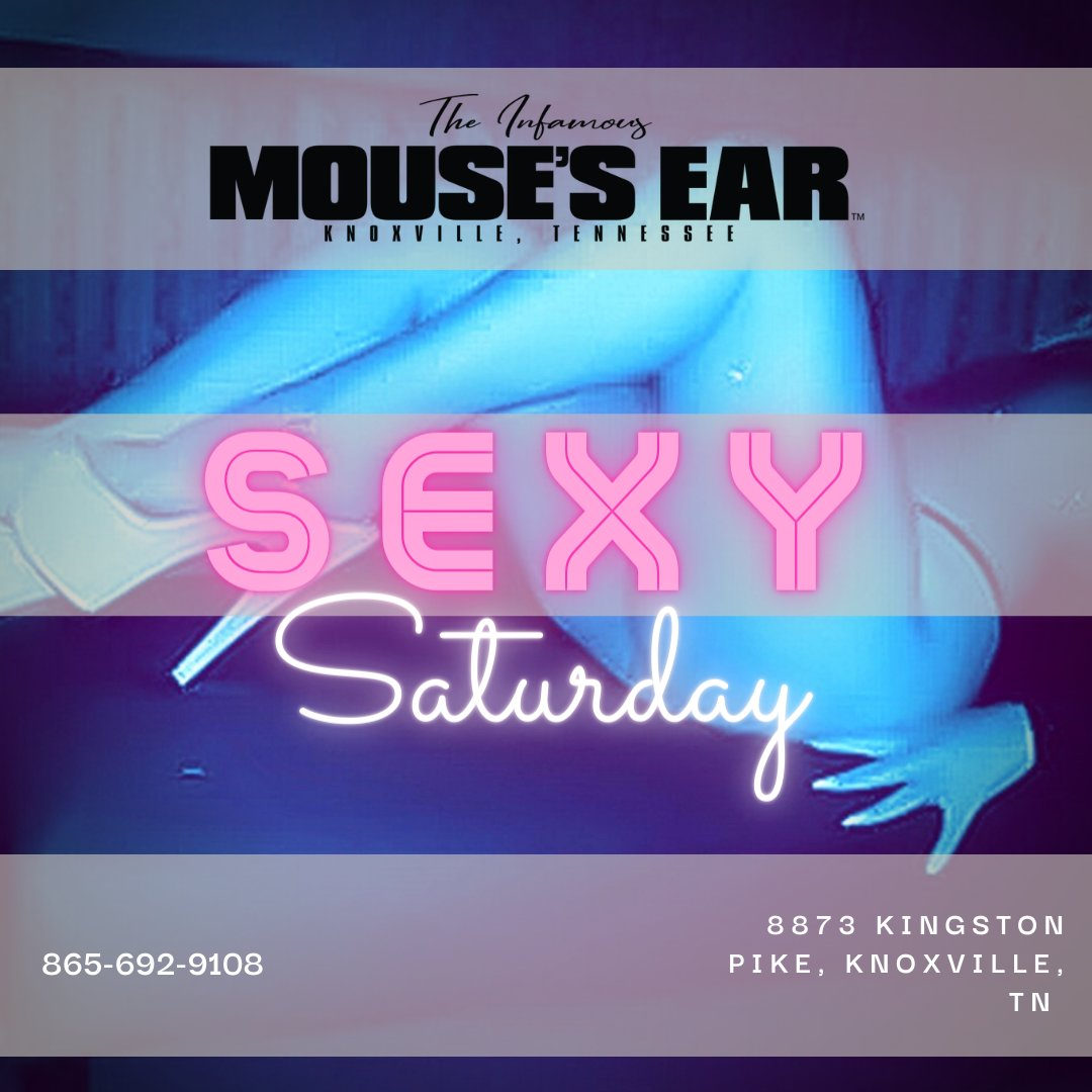Mouse's Ear is THE PLACE to be! We're keeping the party going ALL NIGHT! Come in and check out Knoxville's best kept secret! 😈 . . . #thingstodo #sexysaturday #stripclub #stripjoint #fun #babes #saturdayshenanigans #mousesear #Knoxville