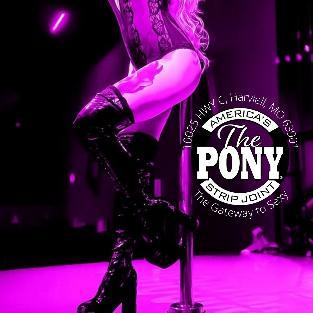 It's another sexy Saturday at the Pony and we're bringing the heat! Come and get a dance with your favorite showgirl tonight! Full bar, and Wildside opens at 1:30am! See you soon!  . . . #SexySaturday #PonyParty #Gateway #Poledancing #ThePony #PoplarBluff #StripJoint #StripClub