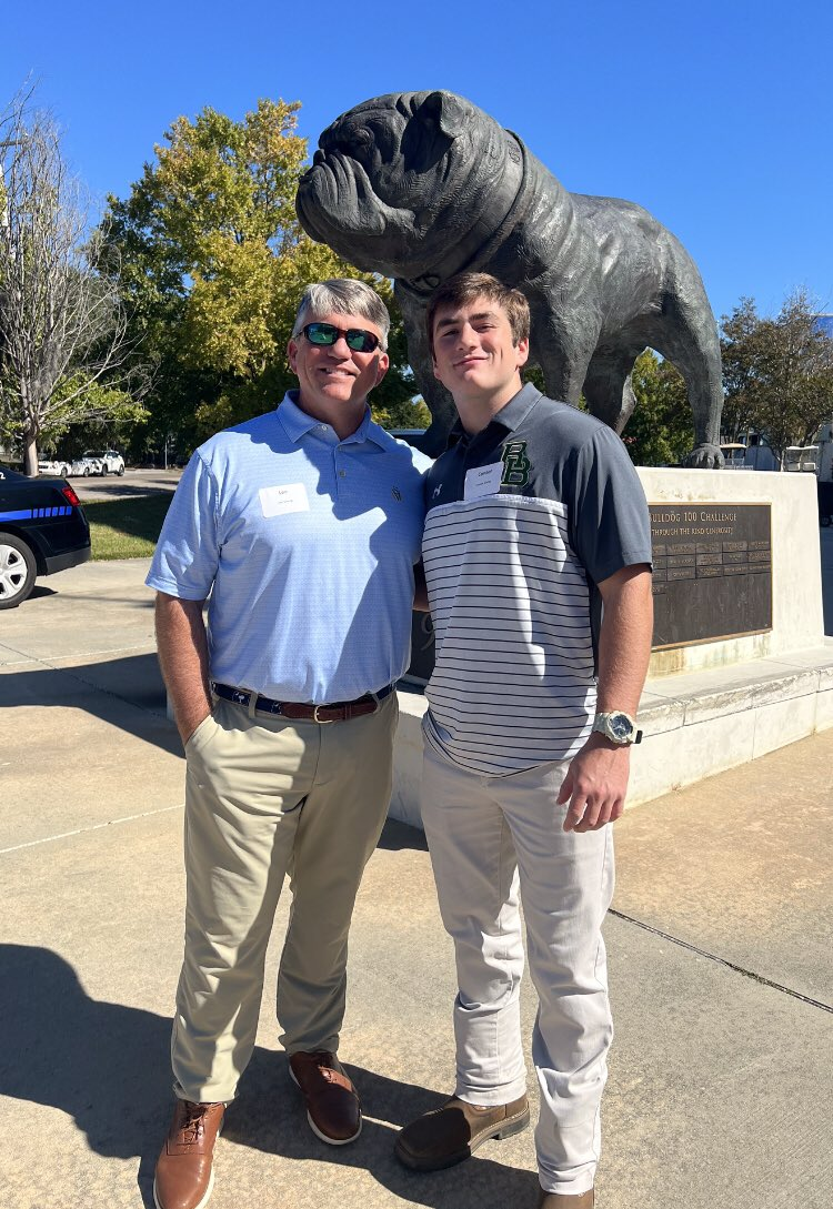 Awesome day today at the Citadel! Thank you @TurnerWest5 for the invite! #Godawgs