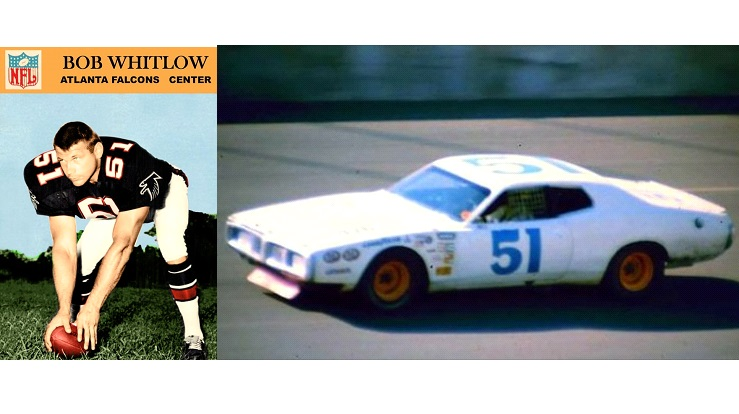 Remembering Bob Whitlow today 2/15/1936 - 10/23/2020 #RIP Bob Whitlow played 9 seasons in the @NFL for @WashingtonNFL, @Lions, @AtlantaFalcons and @Browns. After retiring from football, he ran 18 USAC Stock Car races and 2 @NASCAR Winston Cup races from 1973 to 1976.