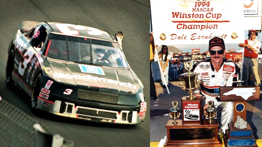 Dale Earnhardt won the 1994 AC Delco 500 at Rockingham 27 years ago today. 🏁 Earnhardt clinched his 7th Winston Cup championship with the win. #TheIntimidator 🏆🏁