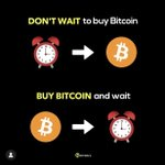 Image for the Tweet beginning: Don't wait to buy #Bitcoin.