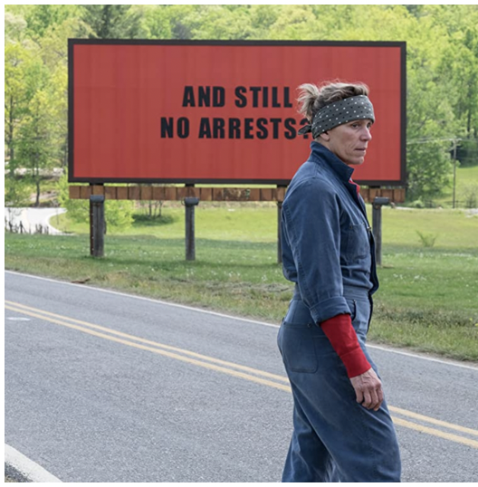 There's still time to watch 'Three Billboards' to prepare for @TowsonEMF Fall Film Series discussion on Monday, Oct. 25 at 7:30 p.m. via zoom.  Click the link for available streams. ow.ly/Ul0w50Gwe0P
