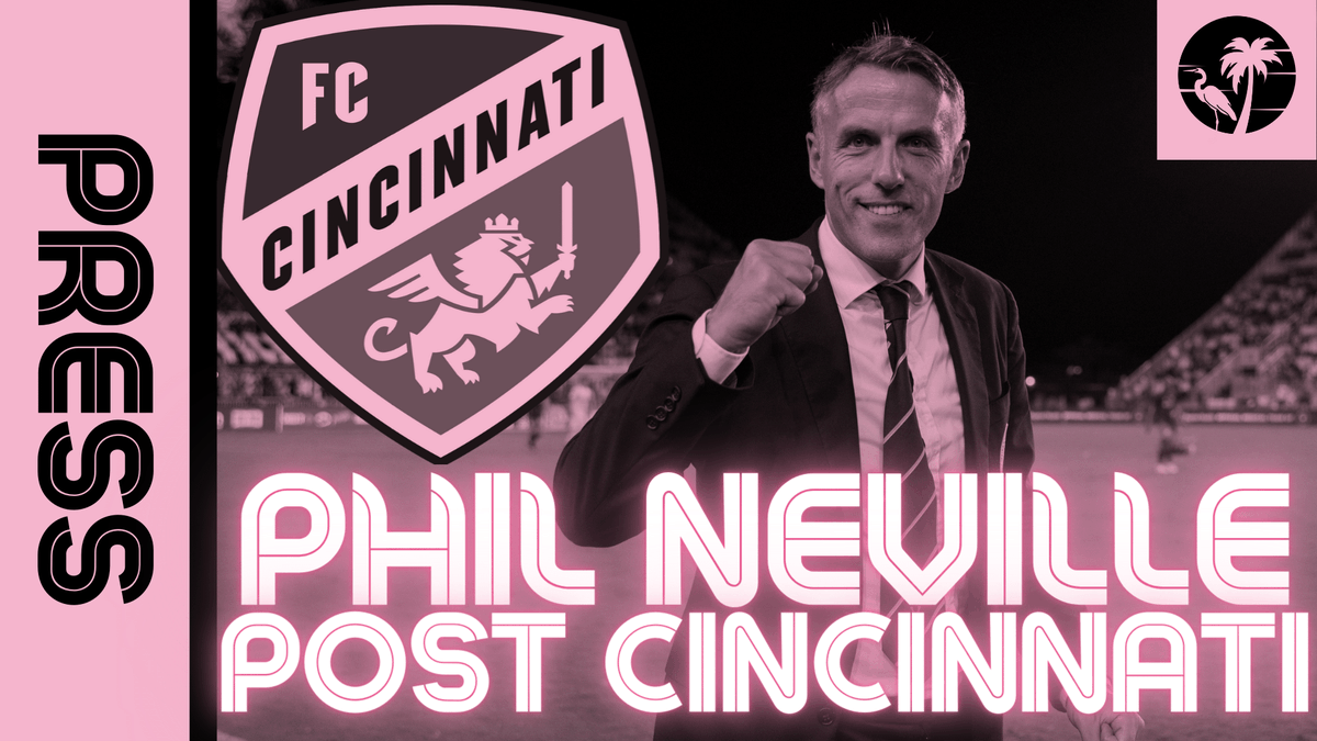 THO POST-GAME: Phil Neville discusses Inter Miami's historic 5-1 win over #FCCincy, the fans atmosphere at DRV PNK Stadium, the Higuaíns and Rodolfo in this new (old) 4-2-3-1 style that's lead to large victories.  Watch here: https://t.co/1Cr7ZkHmUo  #InterMiamiCF #LaFamiliaIMCF https://t.co/GYLwERPZbf.