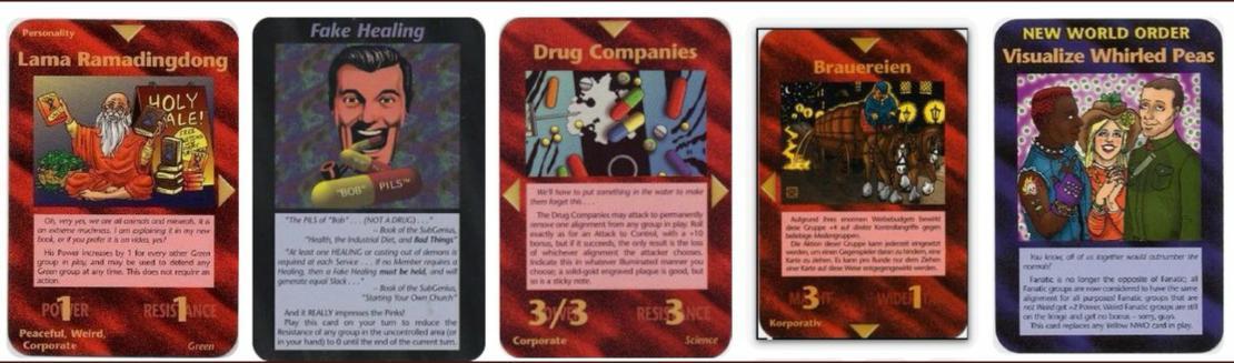 Steve Jackson Games (SJG) tarafından piyasaya sürülmüş bağımsız bir kart oyundur.  Ama öyle böyle bir kart oyunu değildir  666 ın çocukları Artis yeaahh Oyunun ilham kaynağı Robert Shea ve Robert Anton Wilson tarafından 1975'te yayınlanmış