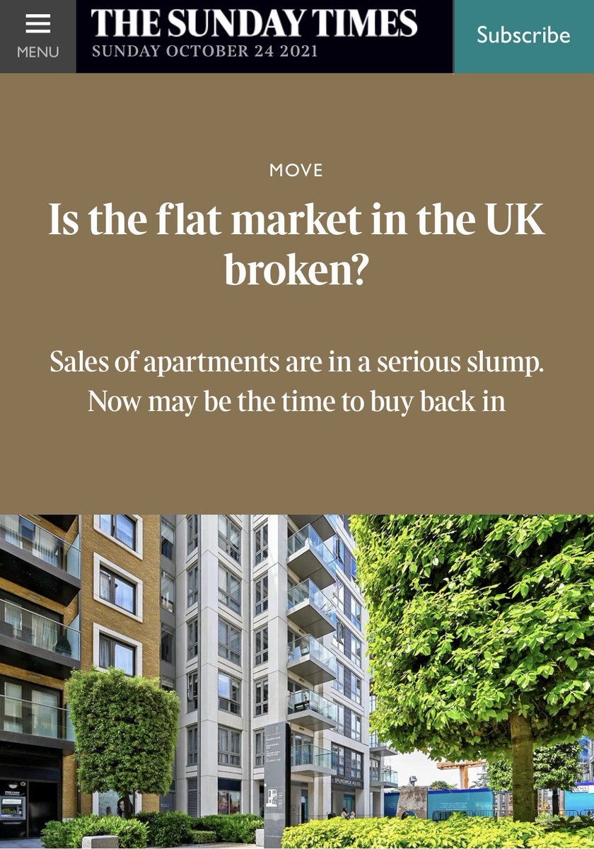 One word answer, YES ‼️ @melyork.   A combination of @Conservatives, @RICSnews & @luhc have crashed all confidence in the flat market.   Crisis response from @RobertJenrick @ChrisPincher & @team_greenhalgh has been non-existent!   #BuildingSafetyCrisis   thetimes.co.uk/article/is-the…