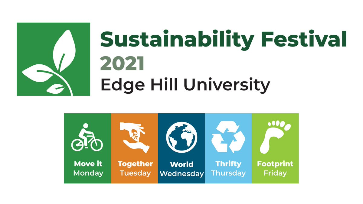 """Come and see us on """"Footprint Friday"""" (5th November) - we will be on Table 2 #carbonfootprint #SustainableEHU @edgehill"""