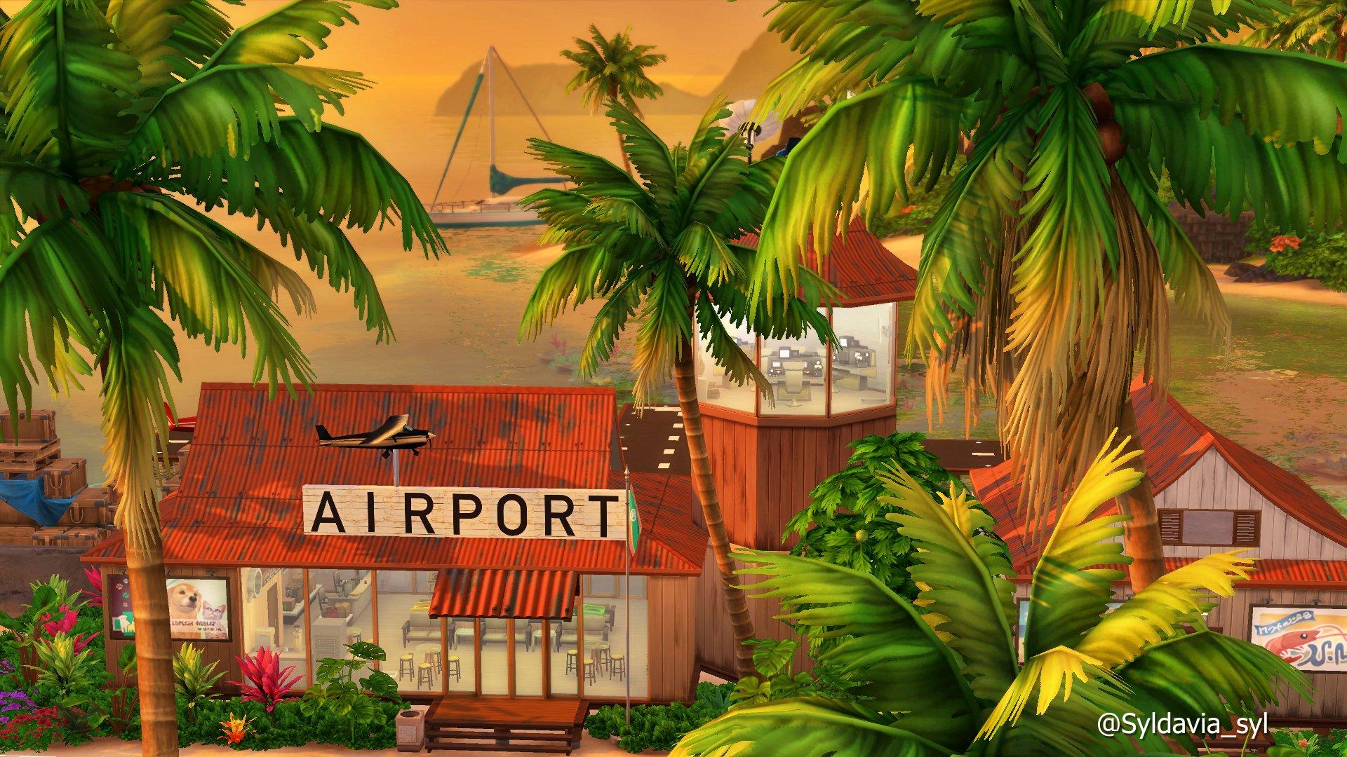 Sulani es una isla y hay que llegar a ella. Aquí un pequeño aeropuerto, totalmente necesario. SULANI AIRPORT, disponible en la galería #TheSims4Gallery ID Syldavia_syl #ShowUsYourBuilds #SimsCreatorsComunity #SupMag #HOTSC @SimsCreatorsCom @CentralSimmer @Simlish4 @simmersdigest https://t.co/C06JVE2c74