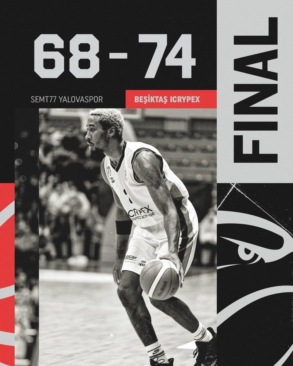 Beşiktaş @icrypex takımımız, @basketsuperligi 5. hafta maçında Semt77 Yalovaspor'u deplasmanda 74-68 mağlup etti. 💪  #PotanınKartalları 🦅