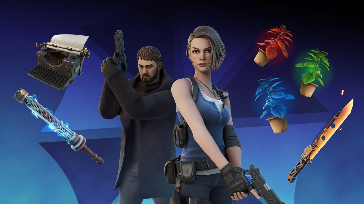 Resident Evil's Chris and Jill Join Fortnite, No Sandwiches or Boulders Included
