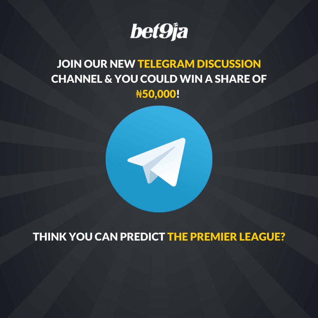 Join our Telegram Discussion today! 💬 Predict the score of our selected match correct and you could win a share of 50,000! 💰🤑 Game of the day: Man United vs Liverpool ⚽️ Follow the link 👇 t.me/bet9jaofficial…
