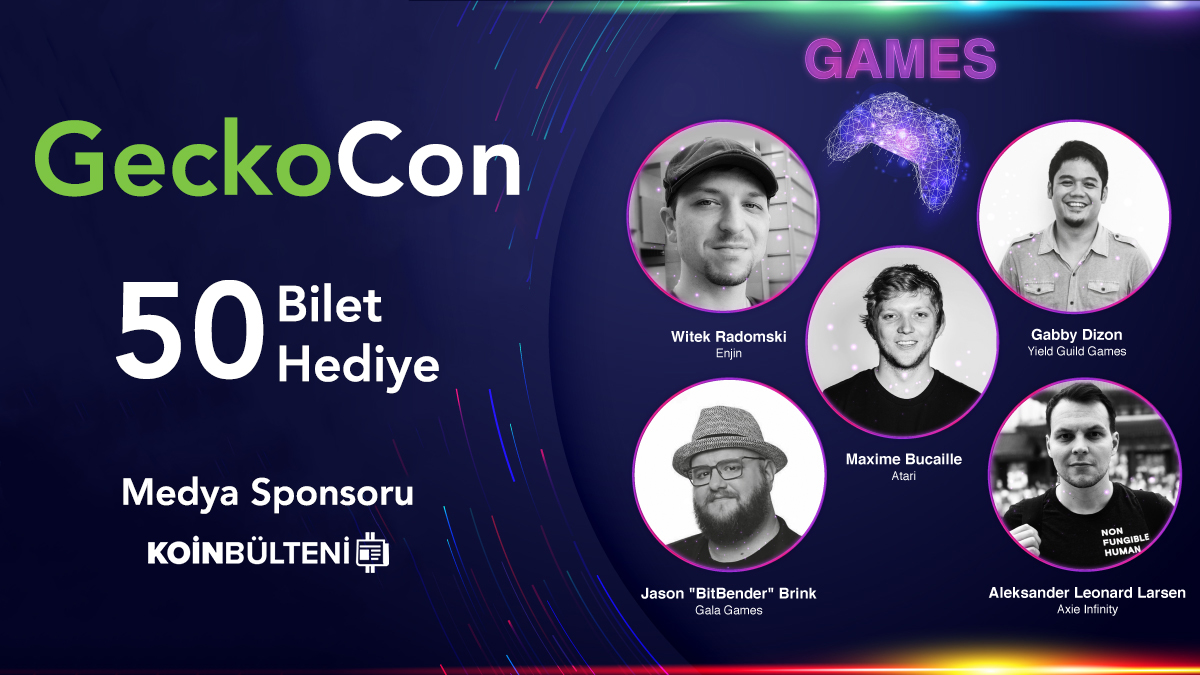 Medya sponsoru olduğumuz @coingecko'nun düzenlediği #GeckoCon NFT Konferansı için 25'i VIP toplam 50 bilet, Koin Bülteni takipçilerine hediye!  Katılmak için: ▶️@koinbulteni hesabını takip et, ▶️bu paylaşımı RT'le.  Etkinlik detayları: bit.ly/2ZoWzvA