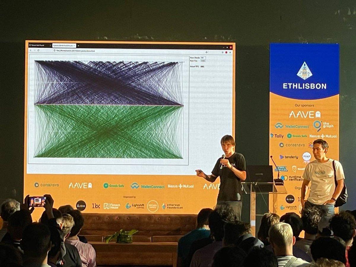 EthLisbon winner is @AlexSkidanov's team Cytonic: sharded runtime with fast serializable transaction execution @ETHLisbon @NEARProtocol