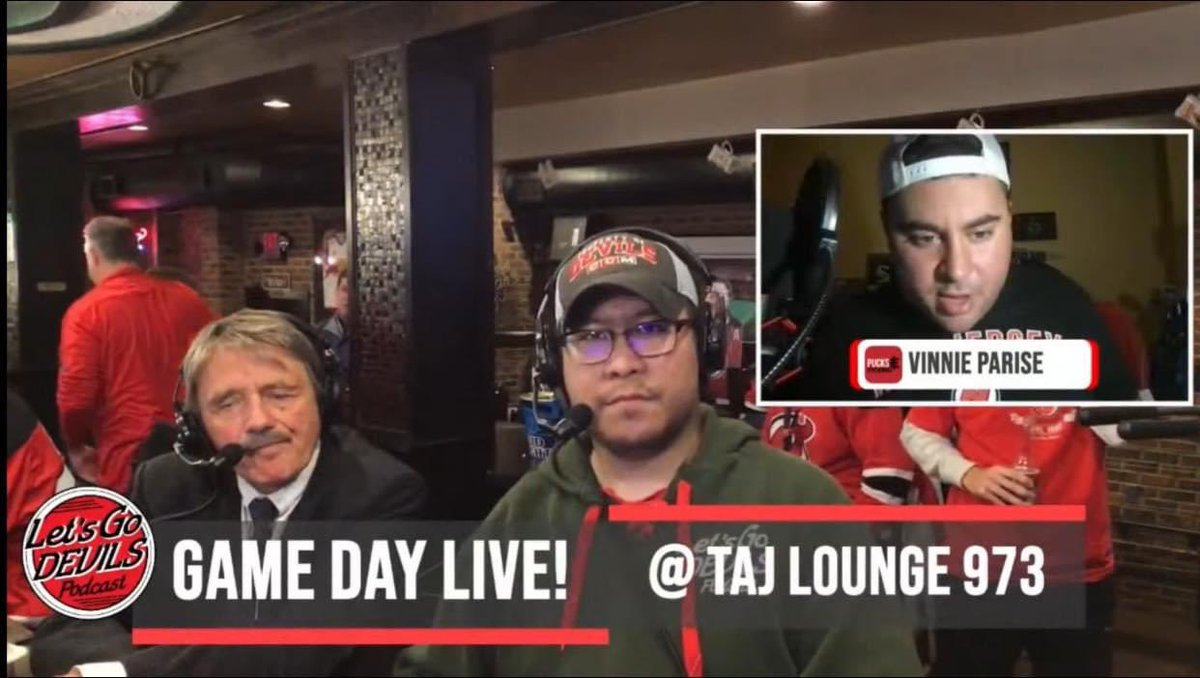 I interviewed Chico Resch AND the #NJDevils won in overtime. It really was a bones day to remember ❤️🖤 https://t.co/Det0KpGm4f.