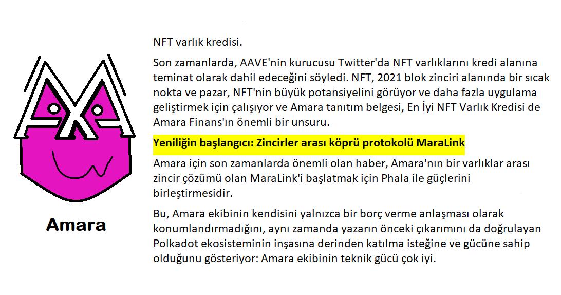 13-NFT varlık kredisi. Son zamanlarda, AAVE'nin kurucusu Twitter'da NFT varlıklarını kredi alanına teminat olarak dahil edeceğini söyledi.