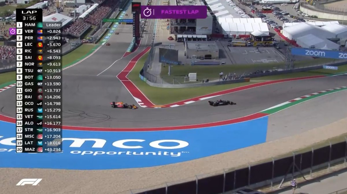 🚨Lewis - Max mücadelesi DRS mesafesinde devam ediyor!  #USGP   #F1