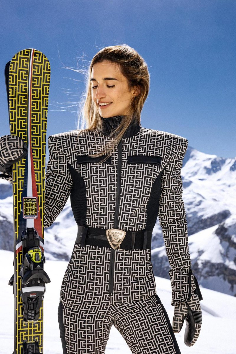 Balmain x Rossignol ski wear... chic! ⛷️ ©FRANCESCA BELTRAN