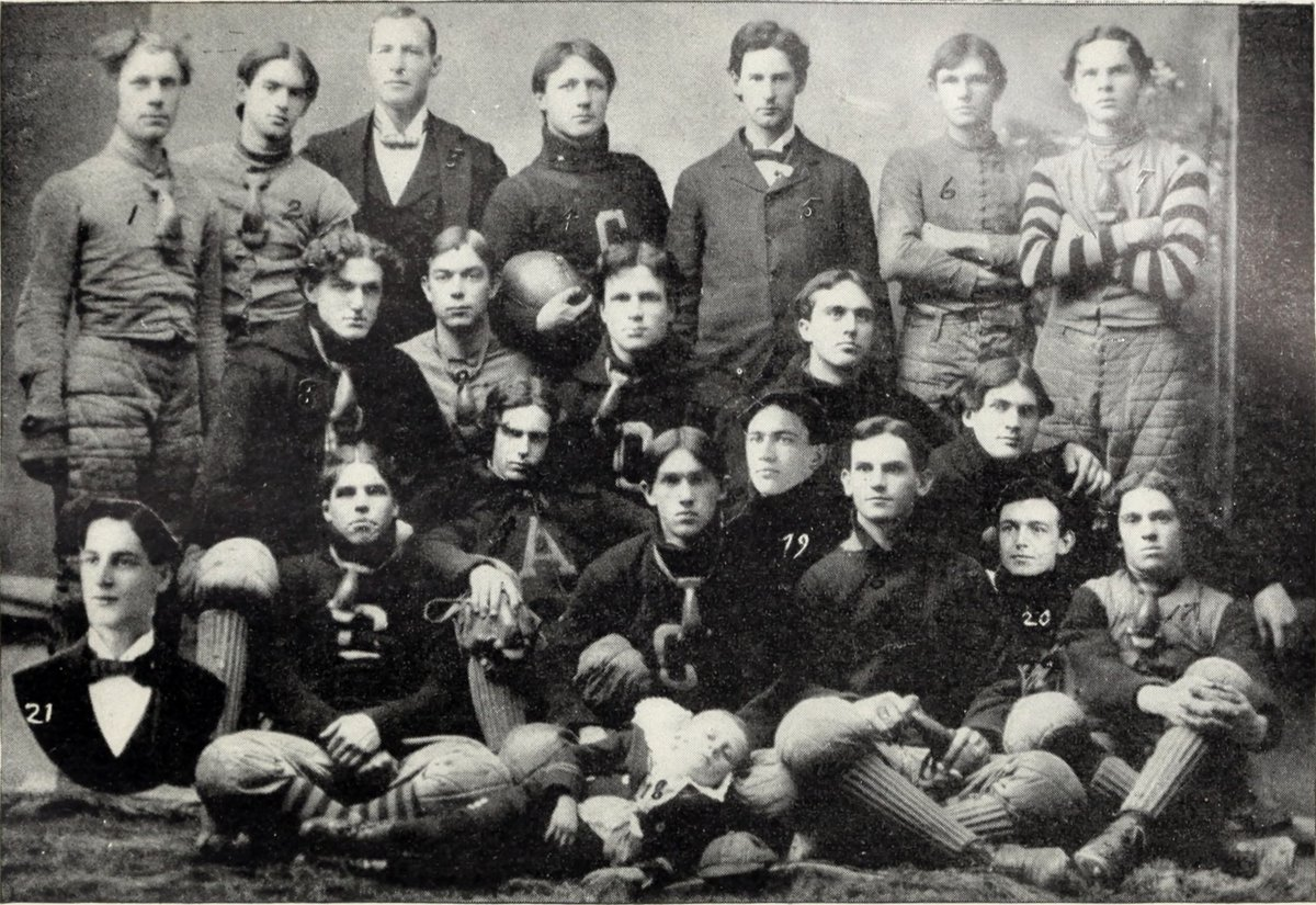 Oct 24, 1929: Shack Shealy, the only Clemson graduate (class of 1899) to be head coach of Tiger football, passed away this date. He took the 1904 team to a 3-3-1 record, with wins over Georgia, Alabama and Tennessee. He went on to a career as a veterinarian. Top center in photo https://t.co/6mSQzSLpjK