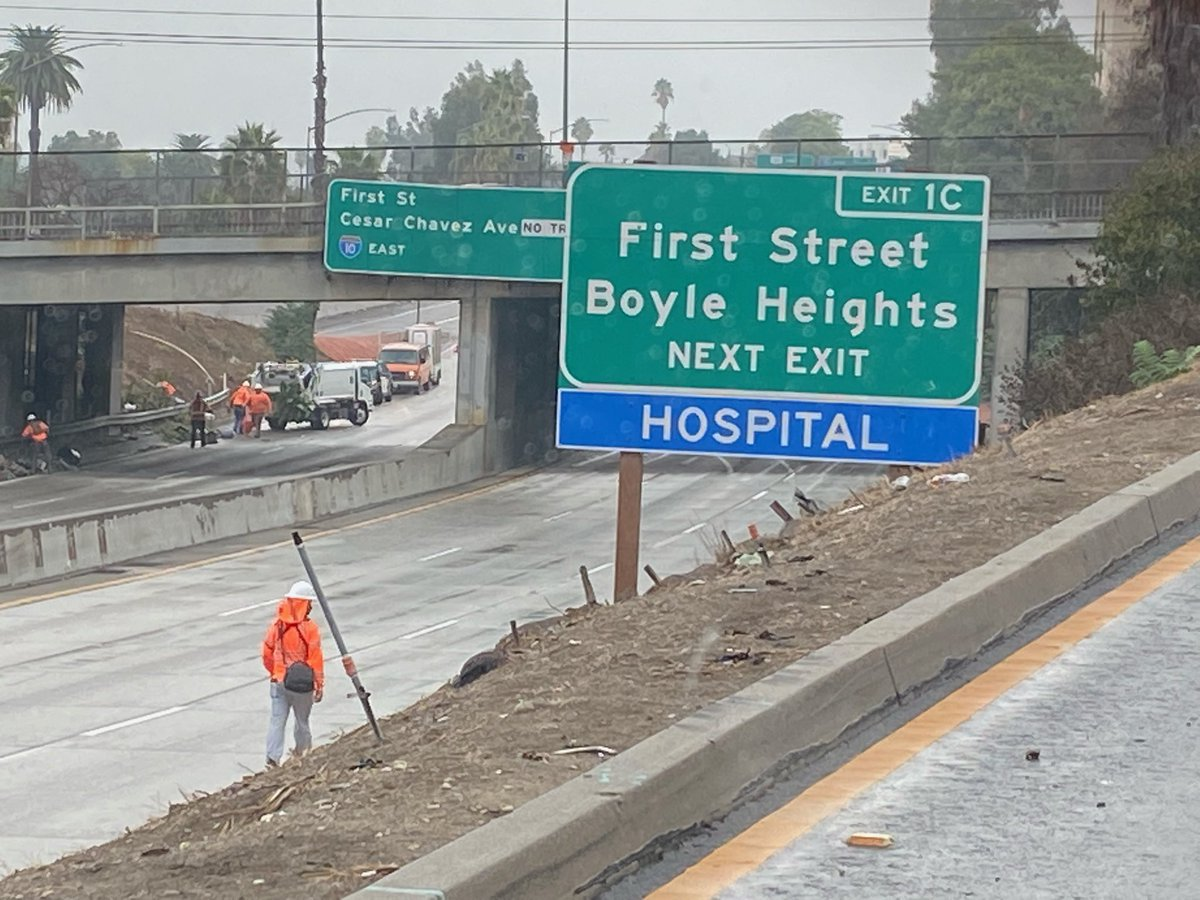 Image posted in Tweet made by Caltrans District 7 on October 25, 2021, 12:08 am UTC