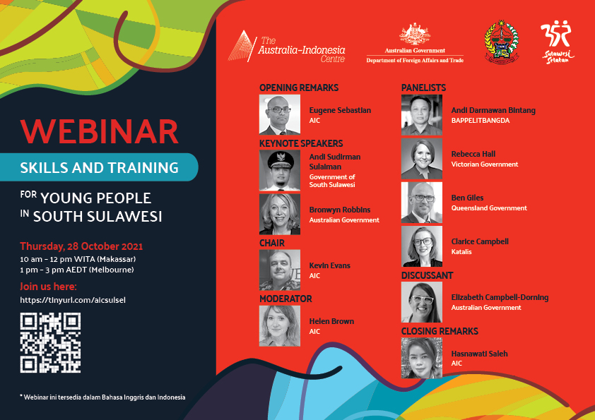 Katalis Skills Lead @clariecam will be speaking at skills & development webinar in #Sulsel in celebration South Sulawesi's 352nd anniversary & Indonesian Youth Oath Day☝️ Join us this Thursday, 28 Oct 2021, 10 AM (WITA) or 1 PM (AEDT). See you there! 💥