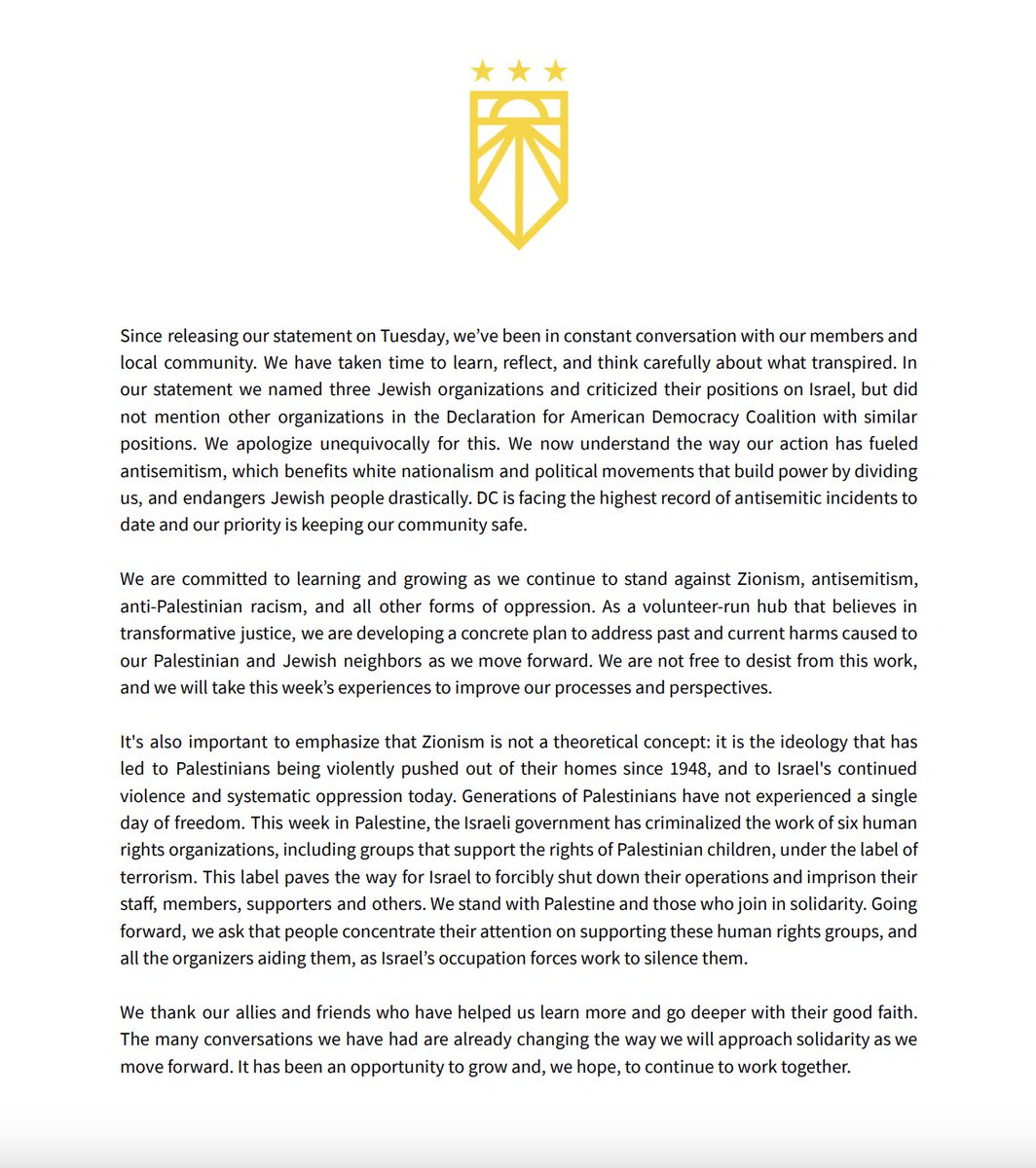 Please read our statement regarding our post on Tuesday