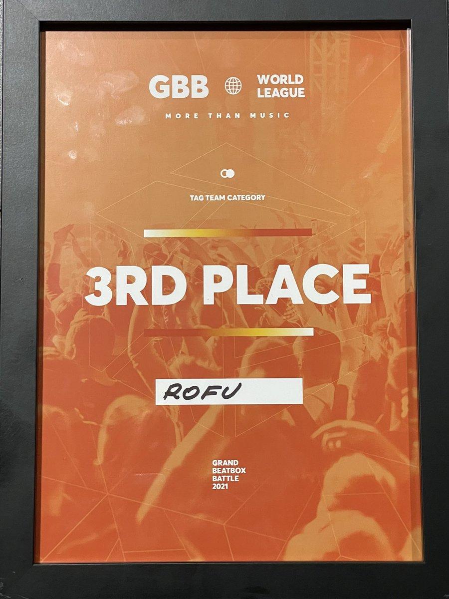 ビートボックスの世界大会のGBB2021、我々Rofuはタッグチーム部門3位という結果に終わりました‼️  負けてしまってごめんなさい ただ、全力で楽しんだので悔いはありません😌  応援してくれた皆さん、本当にありがとうございます🔥🔥🔥 次は世界チャンピオン、略してセカチャンを目指します❗️❗️