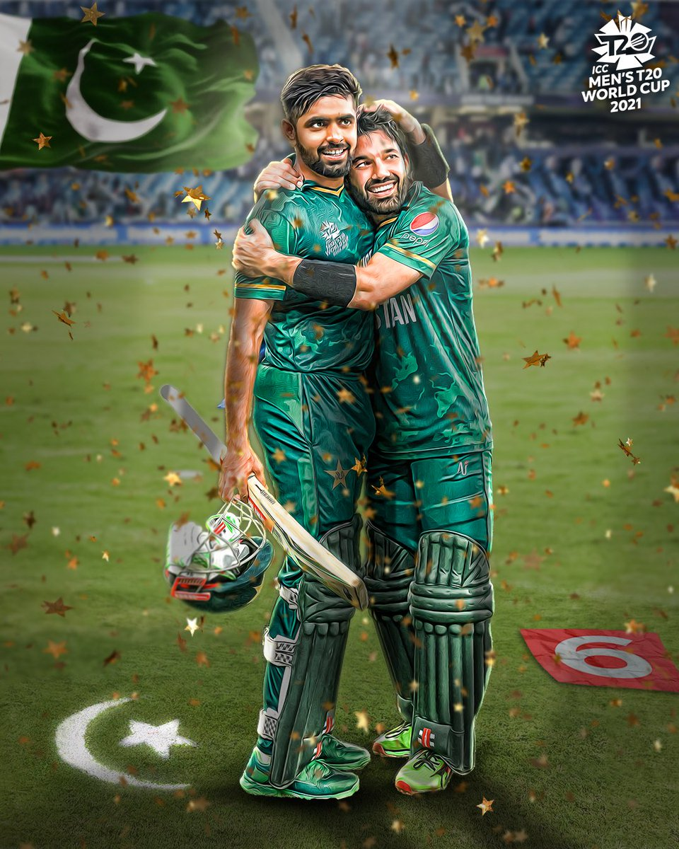 Record breakers 🏏  @iMRizwanPak and @babarazam258 posted the highest first-wicket partnership in Men's #T20WorldCup history in #Pakistan's momentous win 💪  Read more 👉 https://t.co/yh4mb4SuXa  #INDvPAK https://t.co/NOyVY1ivyD