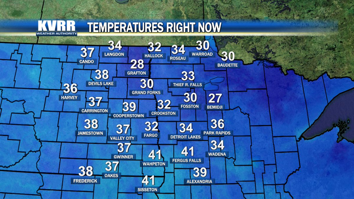 This morning will be on the cool side, but most lows this week are a little warmer.  Get a look at this week's weather on @KVRRTV at 7.  #ndwx #mnwx