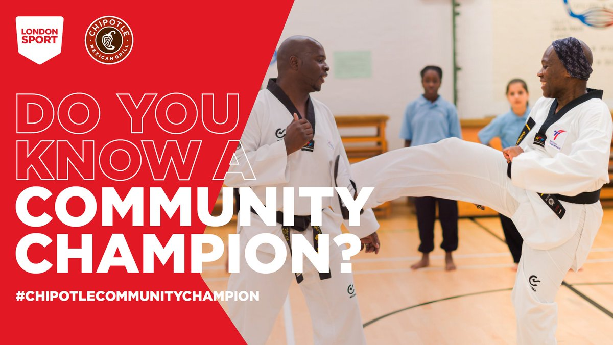 We're still looking for our October #ChipotleCommunityChampion 👀  From delivering free sports equipment to a community or making an impact in a young persons life 👩👧👦  There is no achievement to big or small 💛   Nominate your community sports hero today ➡https://t.co/8HLAWYV0cr https://t.co/DsFWhP47HG