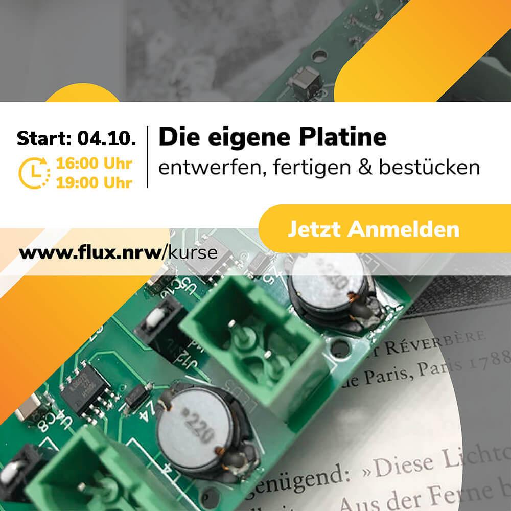 """Wollt ihr wissen, wie man eine eigene #Platine anfertigt? 🤖🤓Megaspannend und für Schülerinnen und Schüler der Klassen 8-12 kostenfrei 💸 Drei Termine im <a class=\""""link-mention\"""" href=\""""http://twitter.com/flux_nrw\"""" target=\""""_blank\"""">@flux_nrw</a> Schülerforschungslabor in #Neheim #Arnsberg Jetzt anmelden: <a href=\""""https://t.co/4QTAXZzqUN\"""" class=\""""link-tweet\"""" target=\""""_blank\"""">https://t.co/4QTAXZzqUN</a> <a class=\""""link-mention\"""" href=\""""http://twitter.com/zdiNRW\"""" target=\""""_blank\"""">@zdiNRW</a> <a href=\""""https://t.co/yIgcjVADv8\"""" class=\""""link-tweet\"""" target=\""""_blank\"""">https://t.co/yIgcjVADv8</a>"""