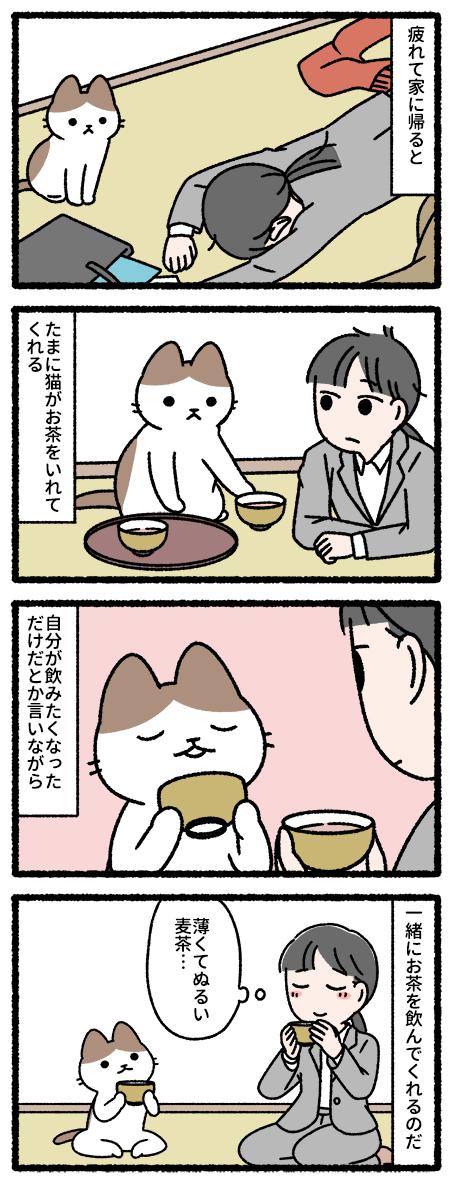 猫も茶を飲む