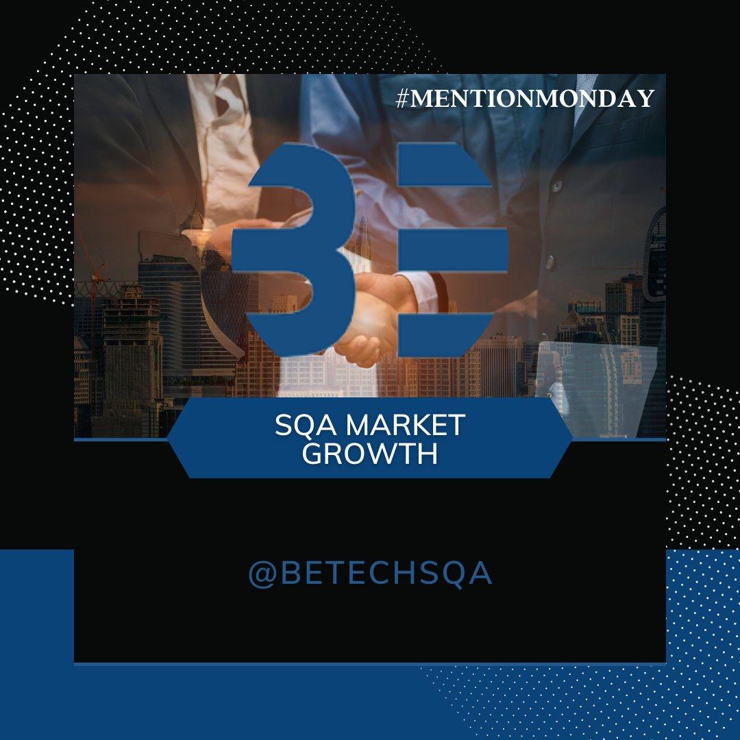 #MENTIONMONDAY SQA MARKET GROWING!  #BetechSQA #market #career #news #enrol #online #softwaretesting https://t.co/eQxtSUTLQE